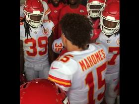 Watch: Patrick Mahomes pumps up team before Chiefs-Rams