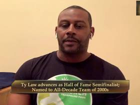 Watch: Ty Law reacts to being named a Hall of Fame semifinalist
