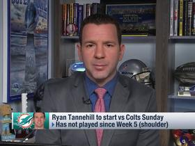 Watch: Rapoport: Tannehill to start vs. Colts, despite not being 100 percent healthy