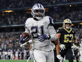 Watch: HUGE block springs Zeke free for TD after one-handed catch