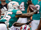 Watch: Xavien Howard picks Allen's Hail Mary attempt to end first half