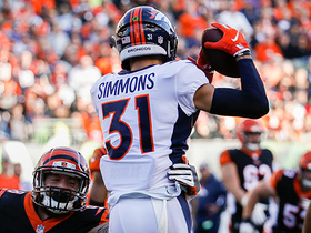 Watch: Justin Simmons comes up with huge INT vs. Bengals