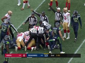 Watch: 'Hawks recover Richie James' muffed punt late in half