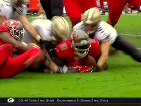 Watch: Carl Nassib smacks ball out of Brees' hands for fumble