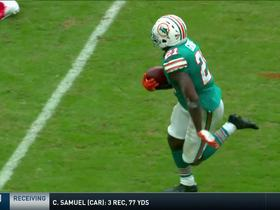 Watch: Gore shows incredible agility as he stays on his feet for 24-yard reception