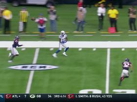 Watch: Luck lobs it to Hilton for a 34-yard gain