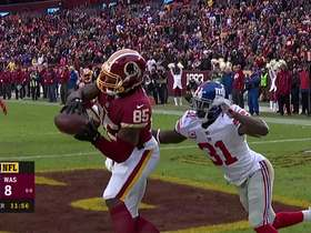 Watch: Johnson tosses perfect pass to Davis for two point conversion