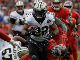 Watch: Mark Ingram drags defender along turf on TD run