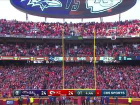 Watch: Butker's 35-yard FG squeaks through uprights to give Chiefs lead in OT