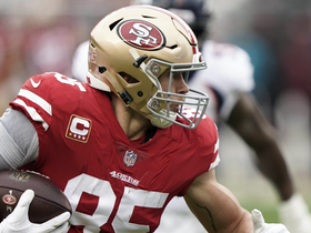 Watch: George Kittle refuses to go down on 52-yard gain