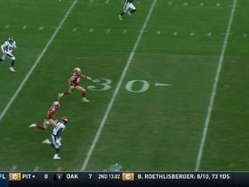 Watch: Can't-Miss Play: Kittle matches jersey number on 85-yard TD