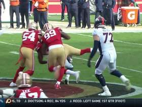 Watch: 49ers' entire DL gets to Keenum for big third-down sack
