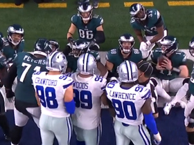 Watch: Cowboys crash Eagles' celebration after Jeffrey's TD