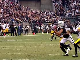 Watch: Can't-Miss Play: Carr shows UNREAL accuracy on 39-yard dime to Roberts