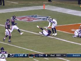 Watch: Goff's last-second launch lands in Jackson's hands for INT