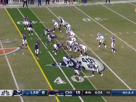 Watch: Goff is enveloped for sack on key fourth down
