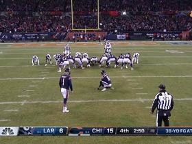 Watch: Parkey's field goal attempt sails wide left