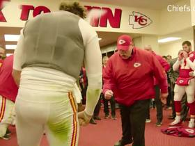 Watch: Andy Reid celebrates Chiefs' Week 14 win in locker room speech