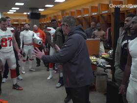 Watch: Gregg Williams congratulates Browns with Week 14 victory in locker room speech