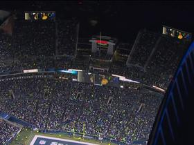 Watch: Fans roar as Matt Hasselbeck raises '12' flag pregame