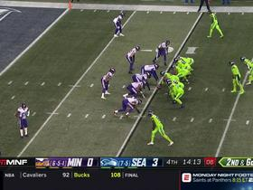 Watch: Barr flies off the edge unblocked for red-zone sack of Wilson