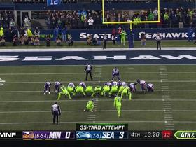 Watch: Seabass knocks through second FG of the game from 35 yards out