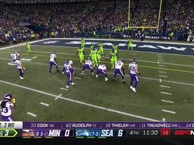 Watch: Thielen breaks two tackles for twirling red-zone first down