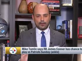 Watch: Garafolo: Conner 'very iffy' to play Week 15 vs. the Patriots