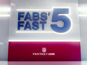 Watch: Fab's five worrisome fantasy trends | NFL Fantasy Live