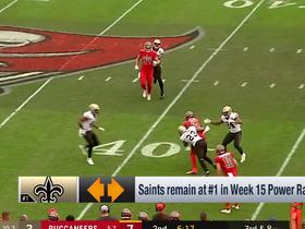 Watch: Saints stay at No. 1 after close win over Buccaneers | NFL Power Rankings