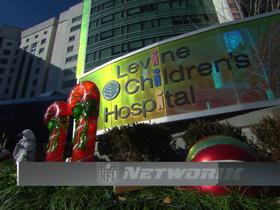 Watch: Panthers players visited, delivered toys to Levine Children's Hospital