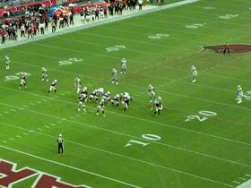 Watch: Go inside Josh Rosen's helmet as he hits Trent Sherfield for a big gain | True View