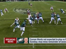 Watch: Carson Wentz not expected to play vs. Rams in Week 15