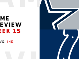 Watch: Cowboys vs. Colts Week 15 preview | NFL Playbook