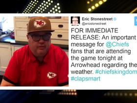 Watch: Eric Stonestreet delivers Twitter PSA to help Chiefs fans turn up the volume in Arrowhead Stadium