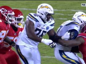 Watch: Dee Ford collapses the pocket on Philip Rivers for the sack