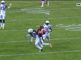 Watch: Can't-Miss Play: Hill shimmies seamlessly after HUGE catch