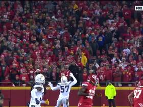 Watch: Mahomes' improbable throw negated by holding penalty