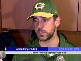 Watch: Aaron Rodgers on career record vs. Bears: We've won eight in a row, it's just facts