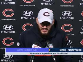 Watch: Trubisky: I'm done with 'Brett Farve' nickname