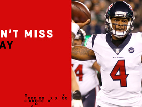 Watch: Can't-Miss Play: Deshaun launches TD pass over every defender