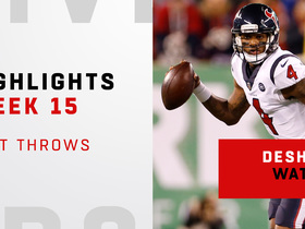 Watch: Best throws from Deshaun Watson's 2-TD game | Week 15