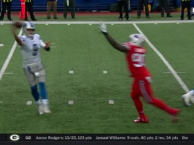 Watch: Shaq Lawson swats ball from Stafford for huge third-down stop