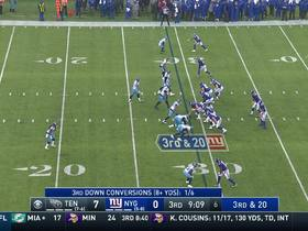 Watch: Kevin Byard jumps Eli's deep pass for INT