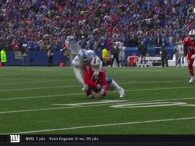 Watch: A'Shawn Robinson smacks ball out of Allen's hands for fumble