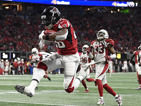 Watch: Tevin Coleman enters overdrive on 43-yard TD run