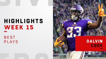 Best Plays From Dalvin Cook S 136 Yard Game Week 15 Nfl