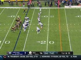 Watch: Big Ben finds Antonio Brown on the run for 24 yards