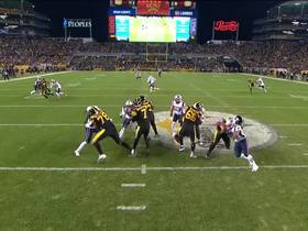Watch: Harmon secures diving pick off Big Ben