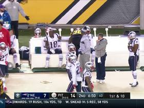 Watch: Jaylen Samuels channels Beast Mode by joining Pats bench after rush